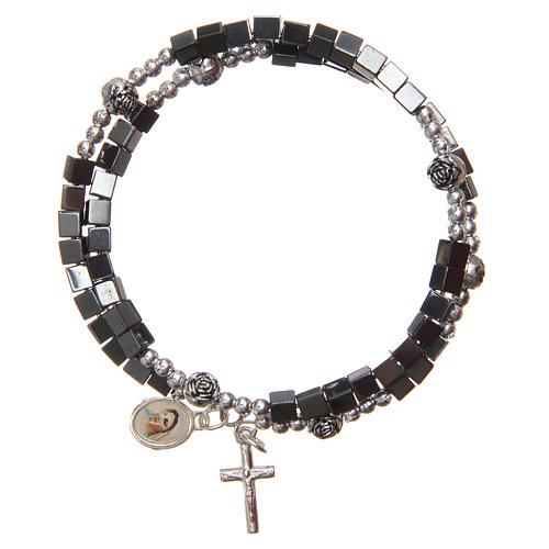 Braccialetto a molla medaglietta Madonna Medjugorje 1