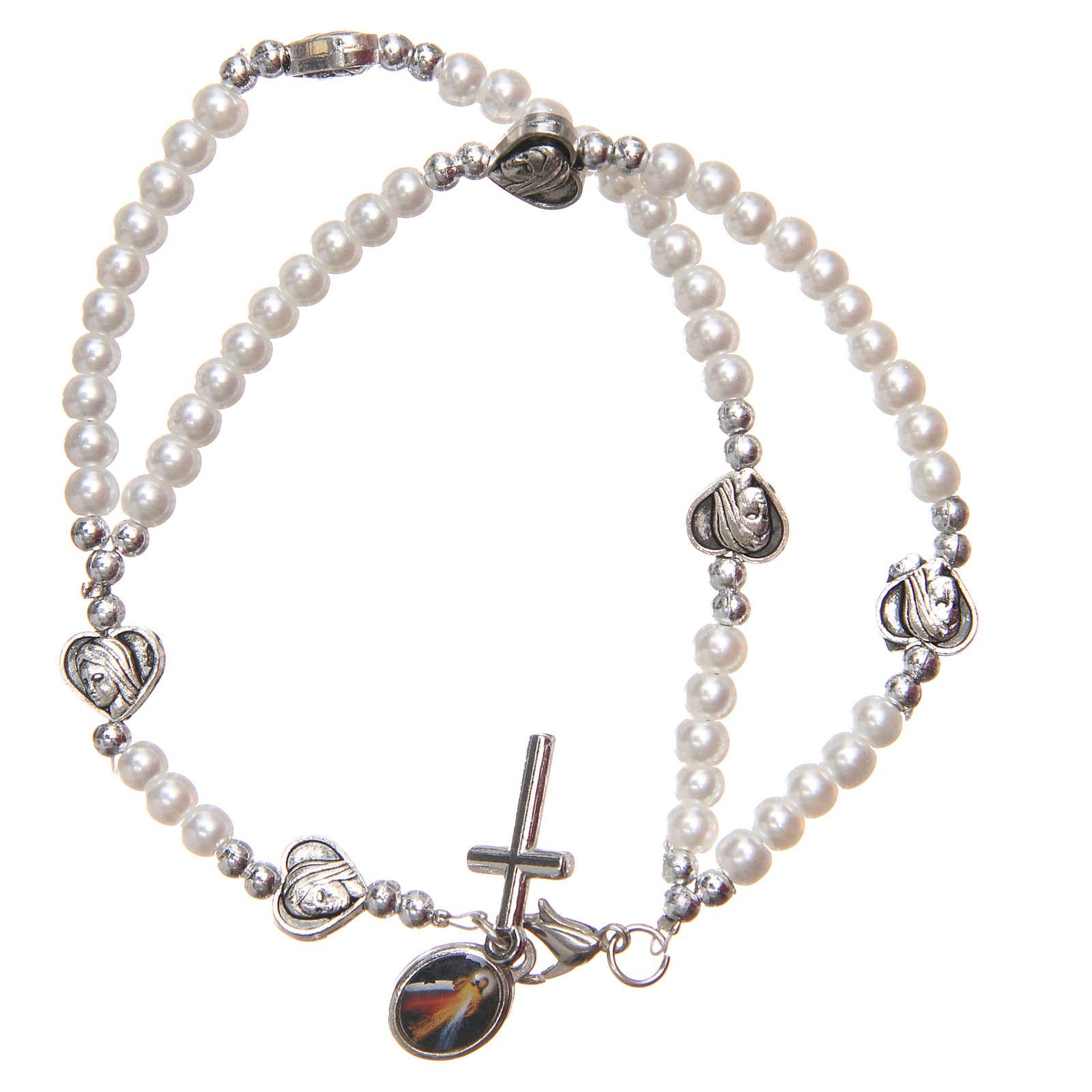 Braccialetto apri chiudi cuori croce Madonna Medjugorje 4