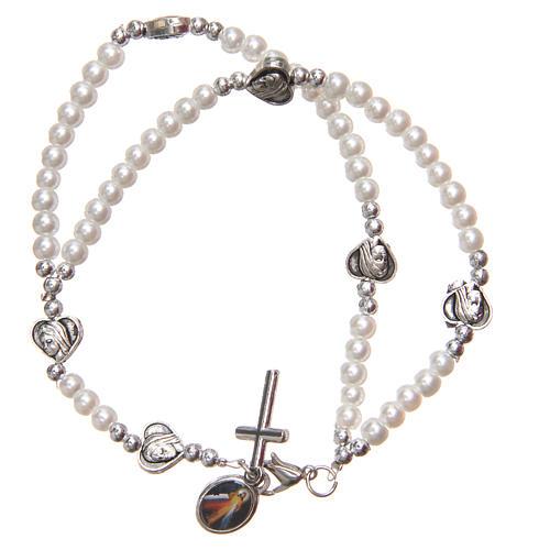 Braccialetto apri chiudi cuori croce Madonna Medjugorje 2
