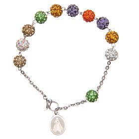 Bracelet shiny multicolor beads Medjugorje s2