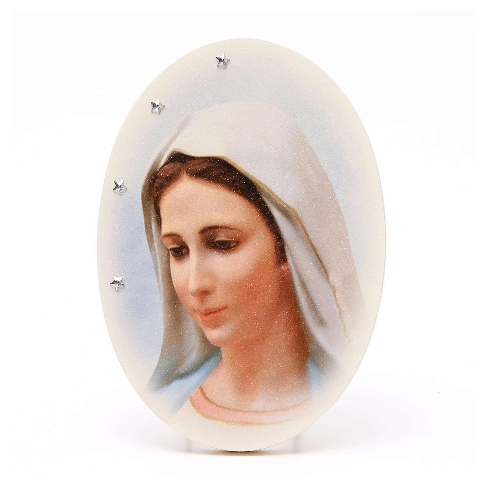 Icona da tavolo con volto Madonna di Medjugorje 4