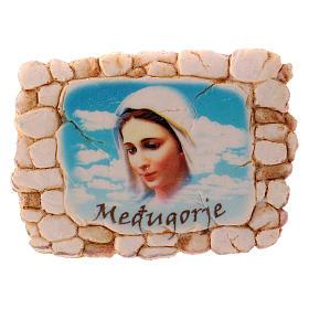 Calamita 6,5x6 cm volto Madonna di Medjugorje s1