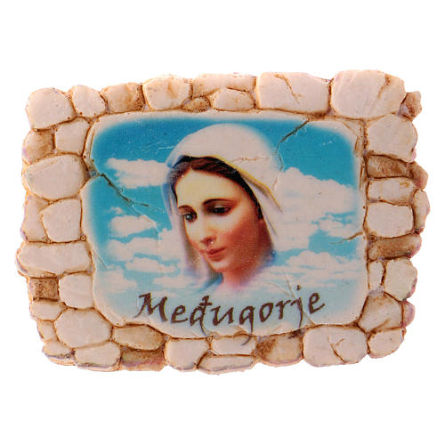 Calamita 6,5x6 cm volto Madonna di Medjugorje 1