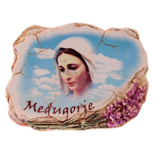 Calamita 6,5x6 cm volto Madonna di Medjugorje 2