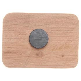 Aimant en bois olivier Medjugorje 8x5,5 cm s2