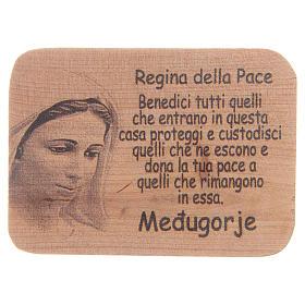 Magnet in Medjugorje olive wood, 8x5,5cm s1