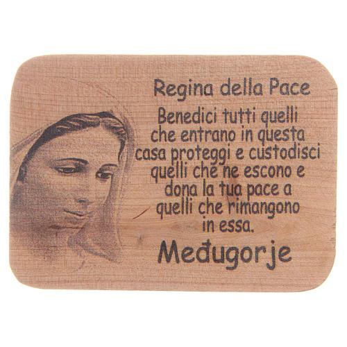 Magnet in Medjugorje olive wood, 8x5,5cm 1
