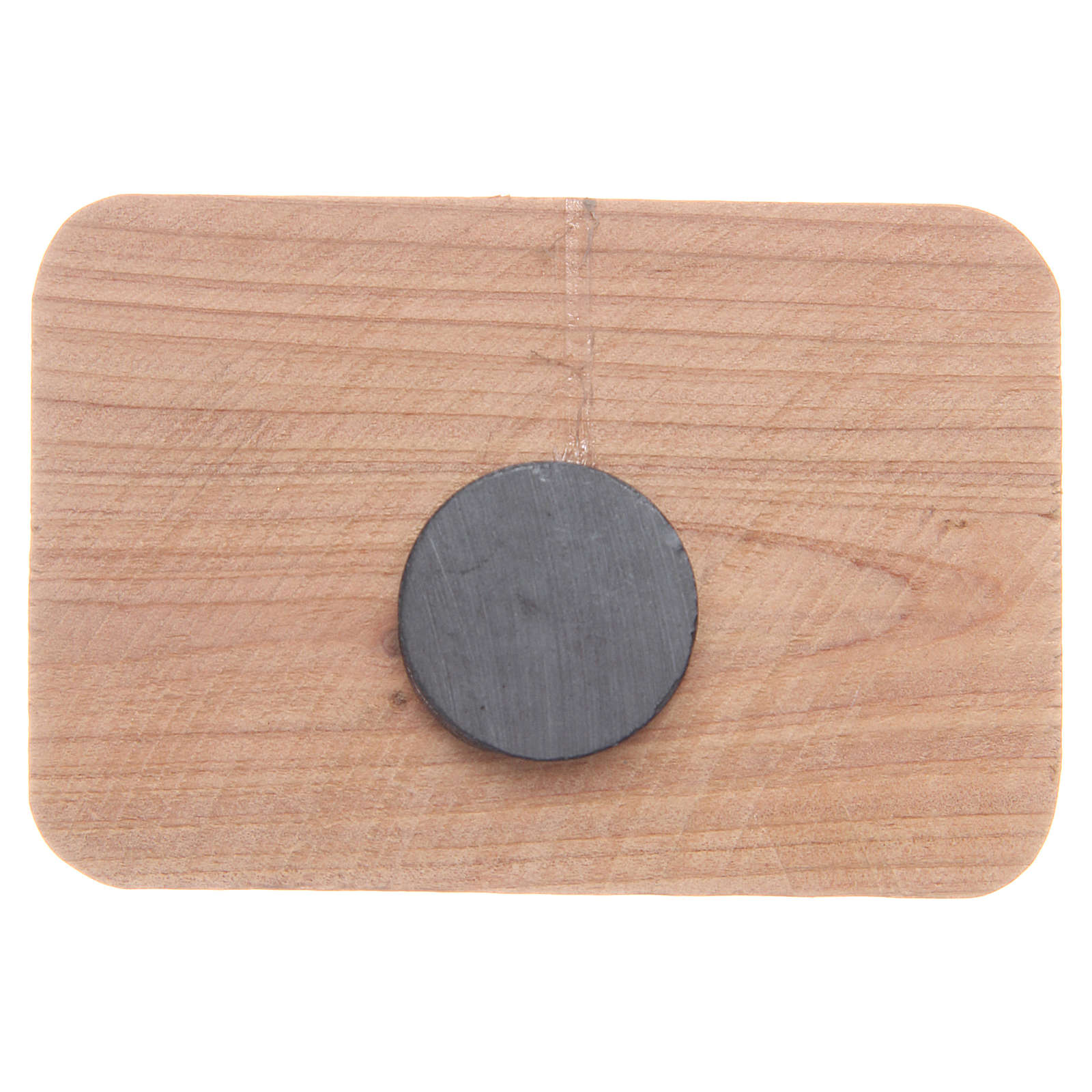 Imán madera olivo Medjugorje 7 x 5 cm 4
