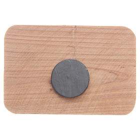 Imán madera olivo Medjugorje 7 x 5 cm s2