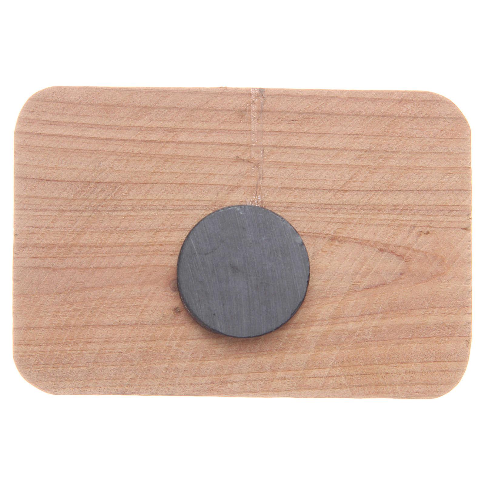 Calamita in legno ulivo Medjugorje 7x5 cm 4