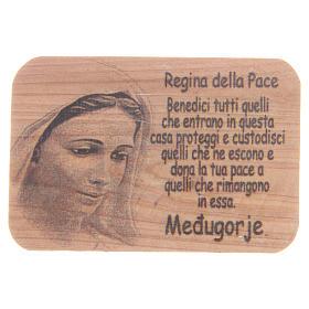 Magnet in Medjugorje olive wood, 7x5cm s1