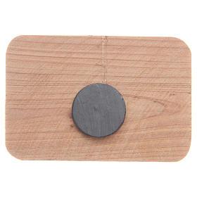 Magnet in Medjugorje olive wood, 7x5cm s2