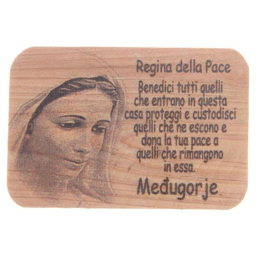 Magnet in Medjugorje olive wood, 7x5cm 1