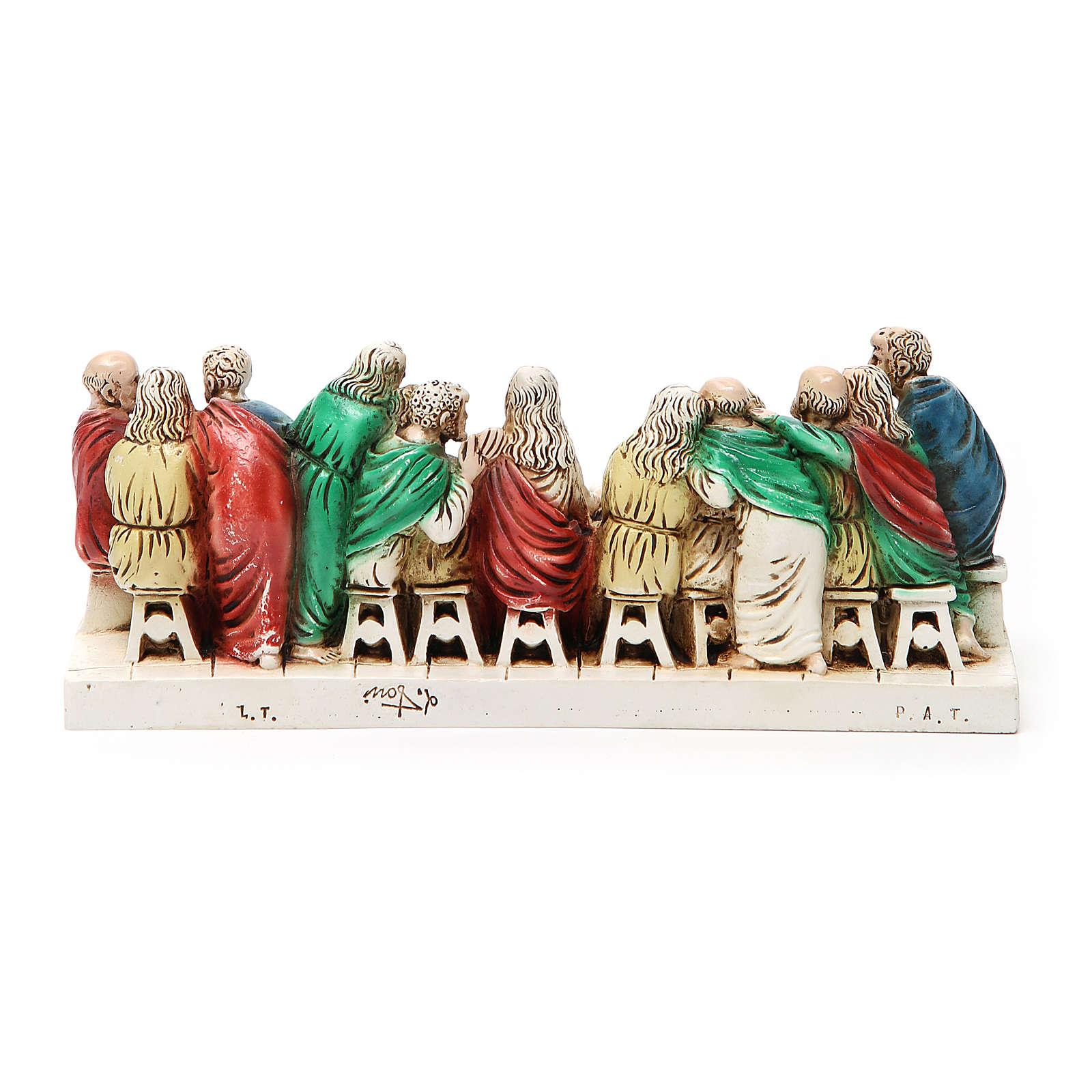 Imagen Ultima Cena piedra Medjugorje 24 x 9,5 cm 4