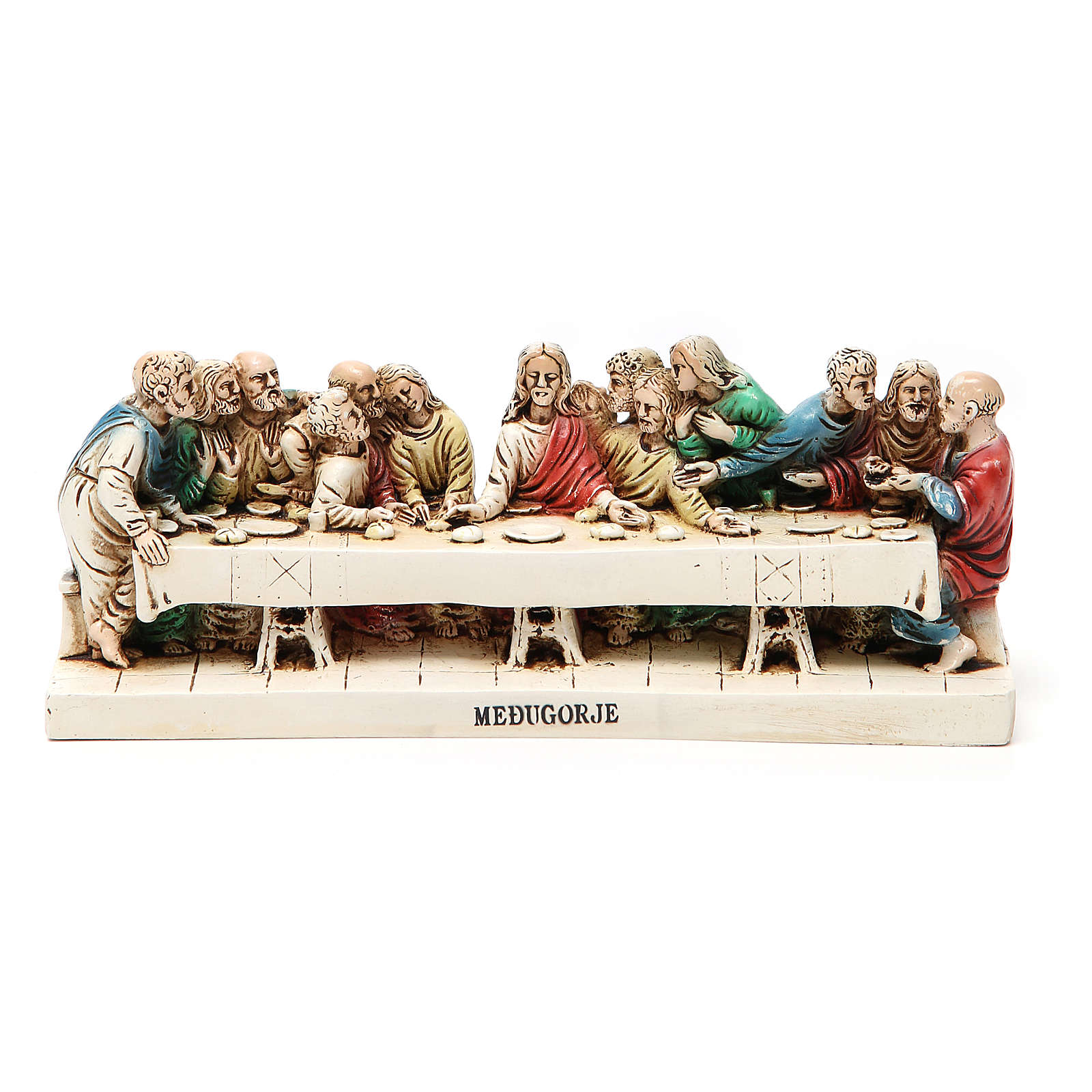 Last Supper in Medjugorje stone 24x9,5cm 4