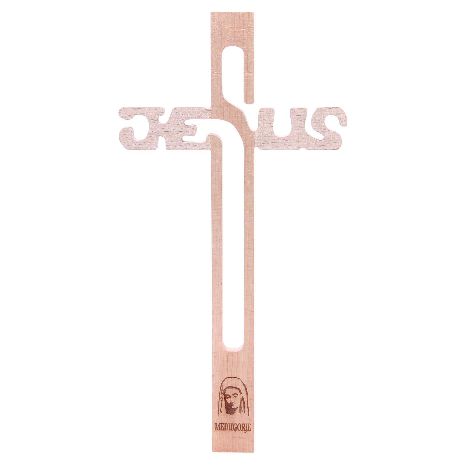 Croix Jésus Medjugorje en hêtre 4