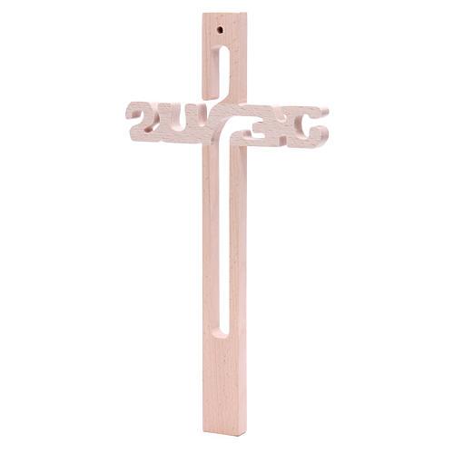 Croix Jésus Medjugorje en hêtre 3