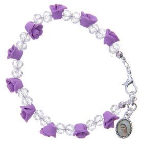 Bracelets, dizainiers: Bracelet Medjugorje dizainier grains cristal
