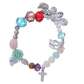 Bracelets, dizainiers: Bracelet Medjugorje vie de la Vierge multicolore
