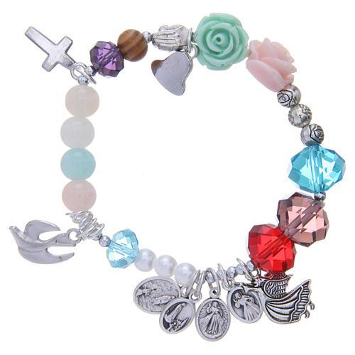 Bracelet Medjugorje vie de la Vierge multicolore 2