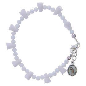 Bracelets, dizainiers: Bracelet Medjugorje blanc icône Vierge