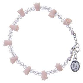 Bracciale Medjugorje rosa icona Madonna rose ceramica s2
