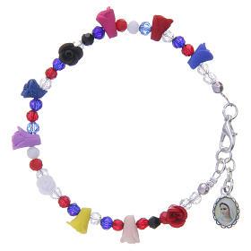Bracelets, dizainiers: Bracelet Medjugorje multicolore icône Vierge