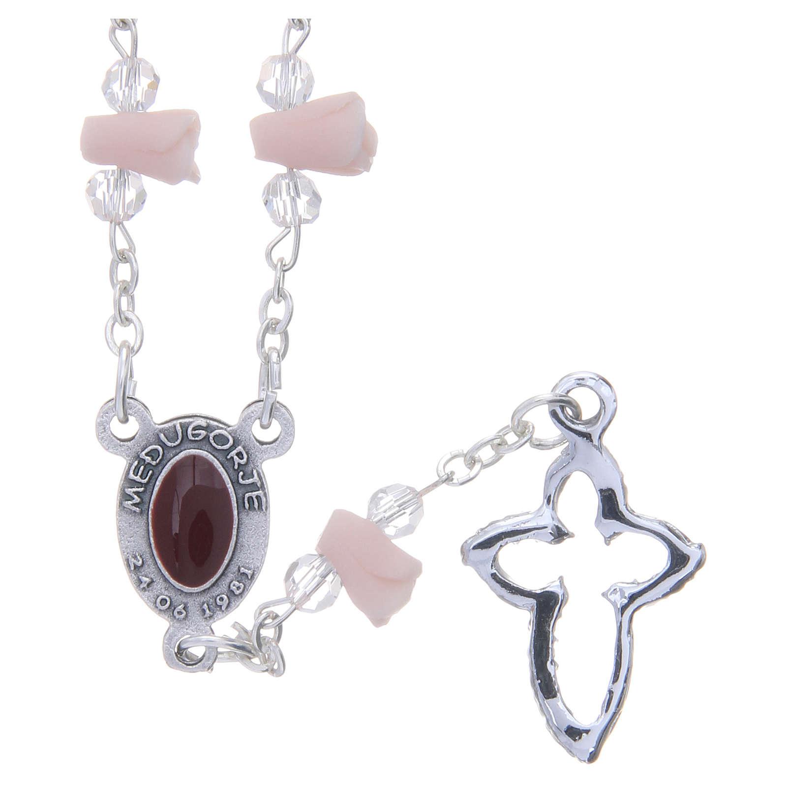 Collana rosario Medjugorje rose ceramica icona Madonna 4
