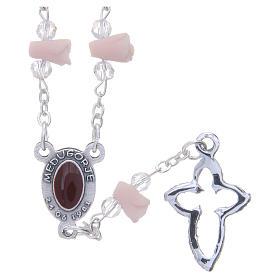 Collana rosario Medjugorje rose ceramica icona Madonna s2