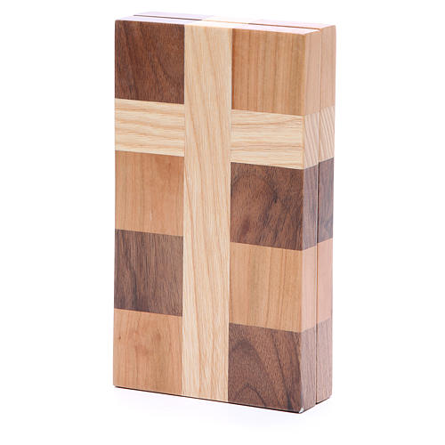 Bas-relief Ange de Dieu trois sortes de bois 3