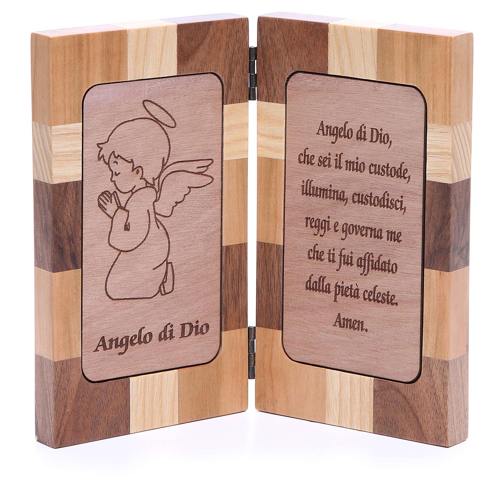 Bassorilievo Angelo di Dio tre tipi legno 4