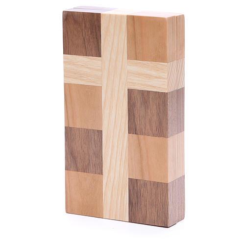 Bas-relief Je Vous salue Marie trois sortes de bois 3