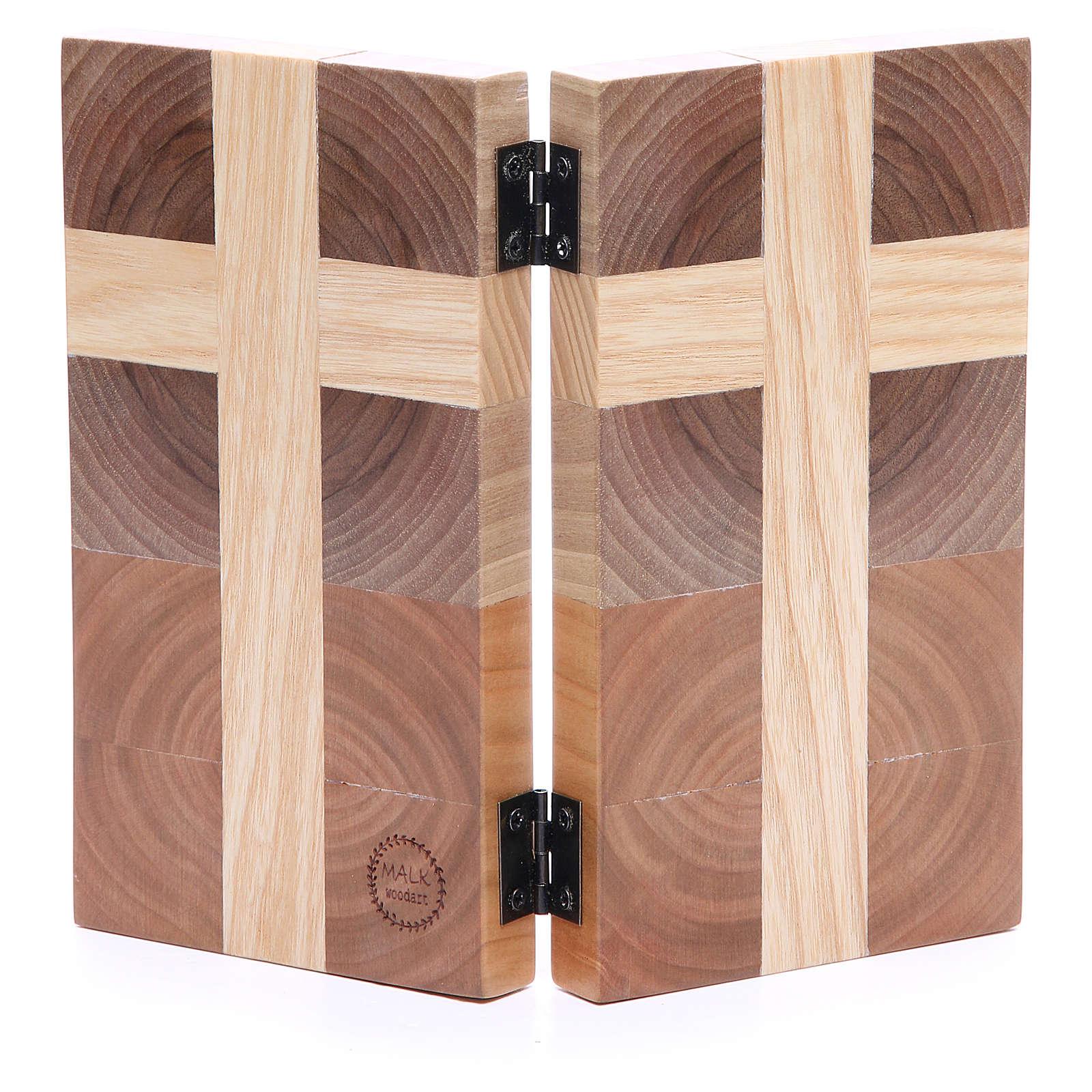 Bas-relief Notre Père trois sortes de bois 4