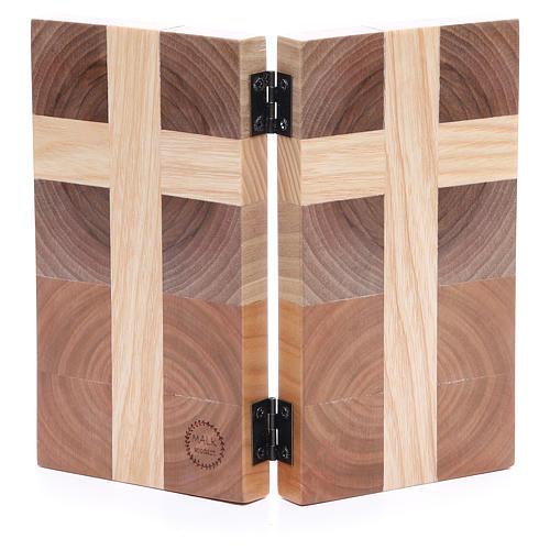 Bas-relief Notre Père trois sortes de bois 2