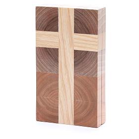 Bassorilievo Padre nostro tre tipi di legno s3