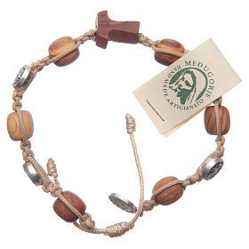 Bracelets, dizainiers: Bracelet Medjugorje olivier corde marron méd. Jésus