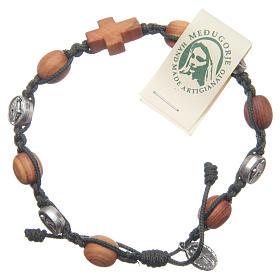 Bracelets, dizainiers: Bracelet Medjugorje olivier corde noire méd. Jésus