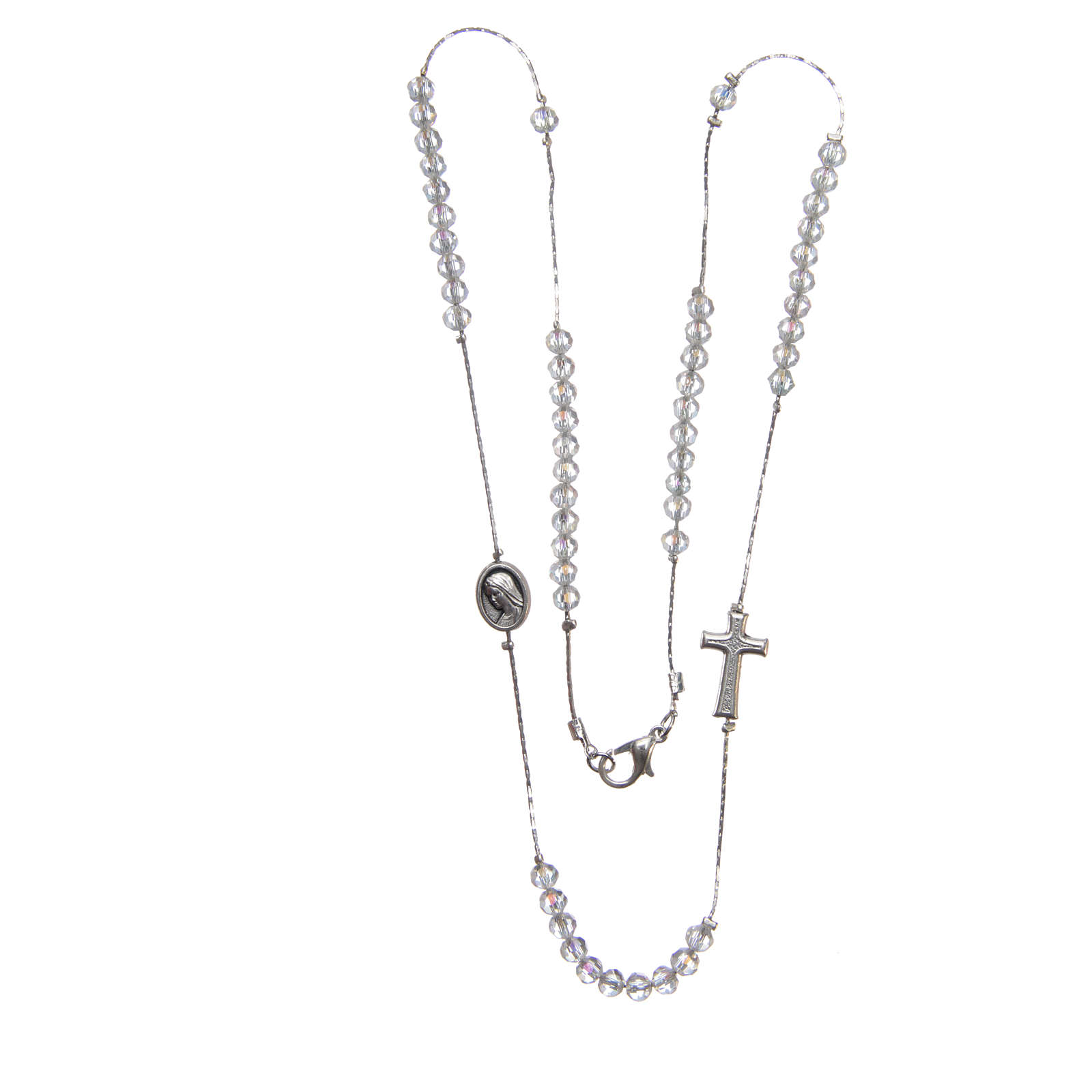 Collar Medjugorje acero cristal cierre 4