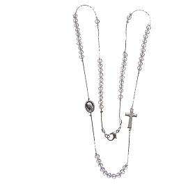 Collar Medjugorje acero cristal cierre s3