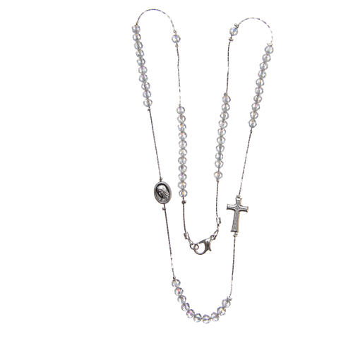 Medjugorje necklace in steel and crystal with clasp 3