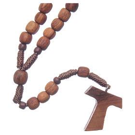 Rosario di Medjugorje legno ulivo corda tau s2