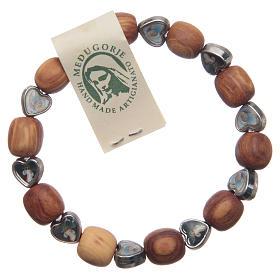 Bracelets, dizainiers: Bracelet Medjugorje élastique olivier coeurs
