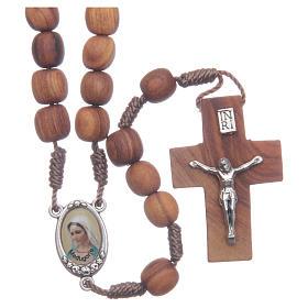 Medjugorje olive wood rosary oval medalets of Saint Benedict s1