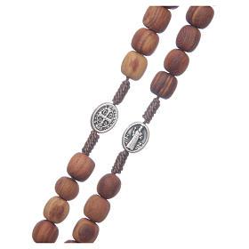 Medjugorje olive wood rosary oval medalets of Saint Benedict s3