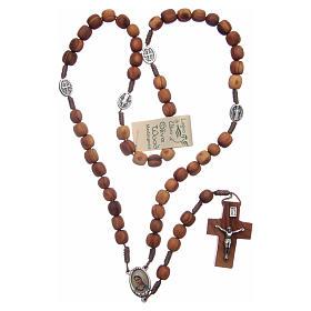 Medjugorje olive wood rosary oval medalets of Saint Benedict s4