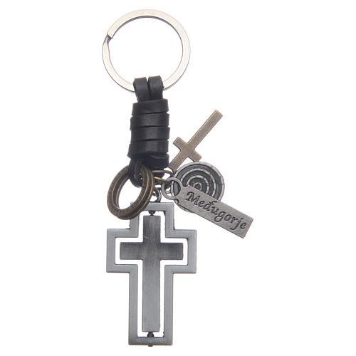 Medjugorje metal key ring 1