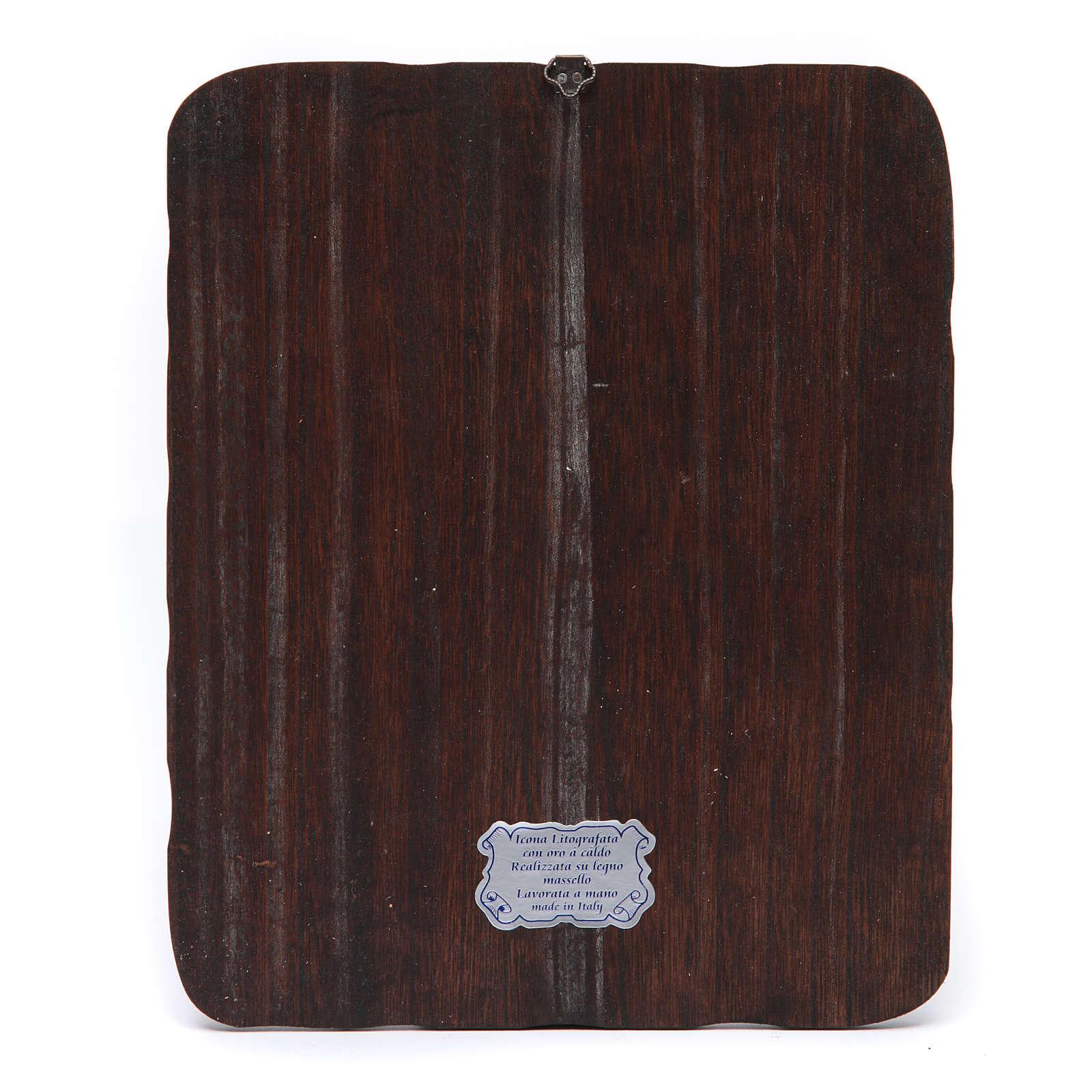 Cuadro madera maciza Jesús orando litografía 4