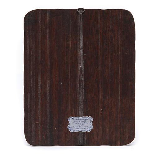 Quadretto legno massello Gesù in preghiera litografia 2