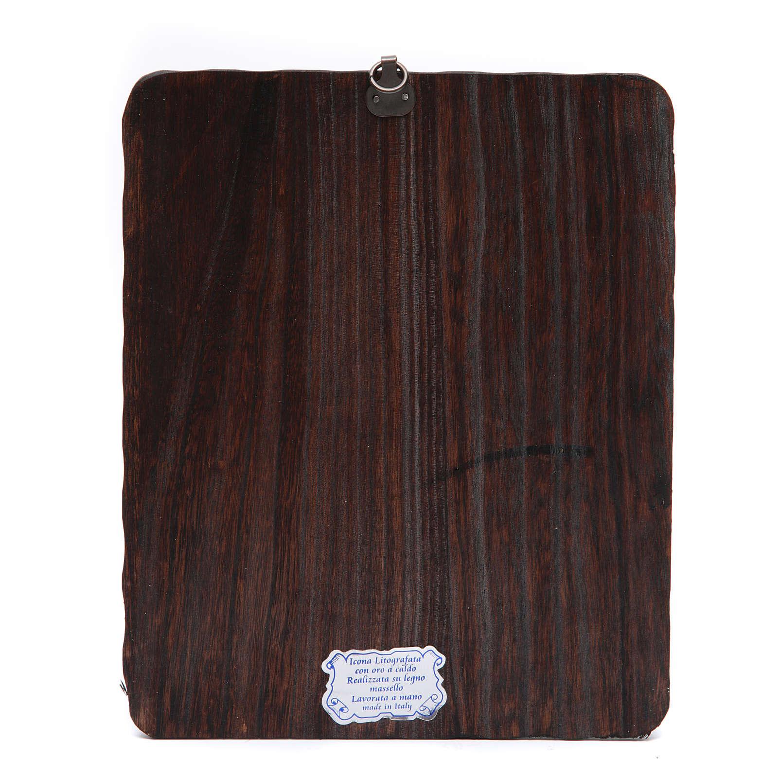 Quadrinho madeira maciça Cristo Misericordioso litografia 4