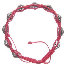 Braccialetto Medjugorje smalti blu corda rossa s2